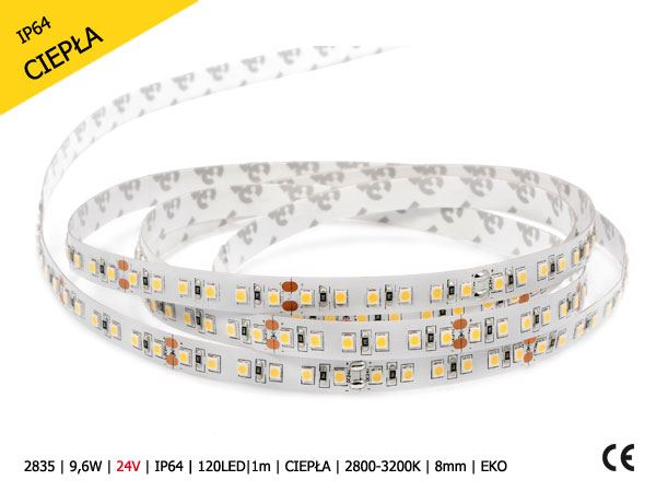2835-9,6W-12V-IP20-600LED-5m-CIEPŁA-2800-3200K-5m-8mm-EKO