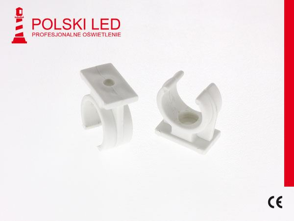 UCHWYT Pol LED PLASTIK DO RURY FI20mm