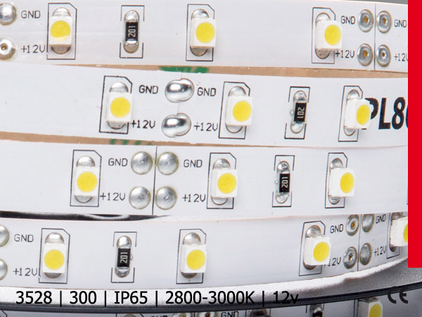 3528SMD 300LED/5M IP64 SILICON BC PROF PLUS warm white silicon
