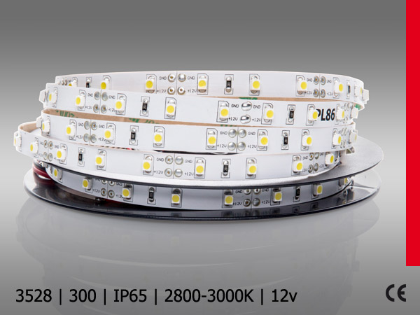 3528SMD 300LED/5M IP64 SILICON BC PROF PLUS