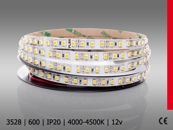 3528SMD 600LED/5M IP20 BN PROF PLUS wroclaw strips neutral white architecture led