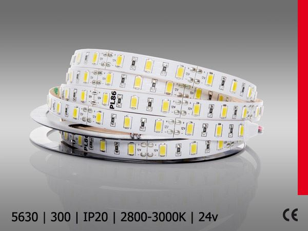 5630 SMD 300LED/5M mocne ledy 18w IP20 BC PROF PLUS 24V