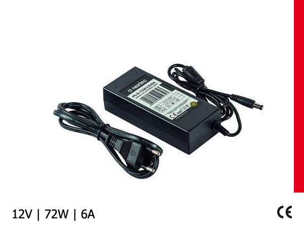 ZASILACZ LED DESKTOP IP44 / 12V / 6,0A / 72W 100-240V