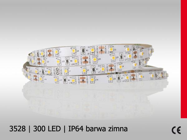 Taśma PolLED 3528SMD 300LED/5M IP64 SILICON BZ PROF
