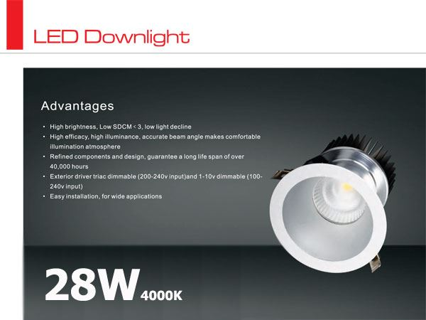Oprawa LED typu downlight CITIZEN 28W / 4000K / 80st