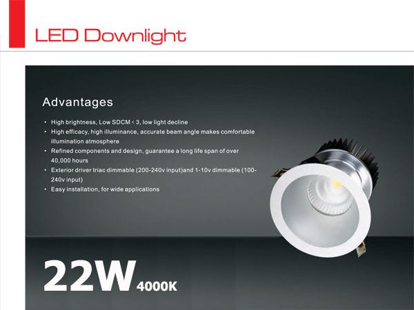Oprawa LED typu downlight CITIZEN 22W / 4000K / 45st