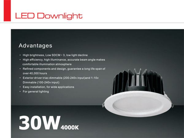 Opawa LED typu downlight CITIZEN 30W / 4000K / 27st